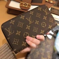 Louis Vuitton LV Classic Letter Print Pattern Long and Short Handbags Coin Purses Key Cases Fashion Men's and Women's Wallet Clutches