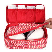 Monopoly Pattern travel pouch bag for underwear and bra