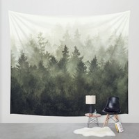 The Heart Of My Heart // Green Mountain Edit Wall Tapestry by Tordis Kayma | Society6