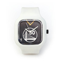 Stephen Curry Slate Watch in a White Strap