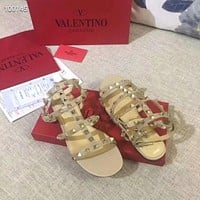 Valentino Flat bottom willow nail sandals