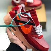NIKE Air Max 90 x OFF-WHITE Men's and women's cheap nike shoes