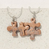 Friendship Pendants for 2 Octopus Puzzle Necklaces set of 2 polymer clay jewelry