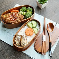 Japanese Double Deck Wooden Bento Boxes Handmade Wood Bento Boxes Food Containers