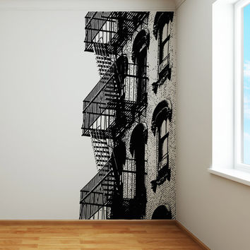 Vinyl Wall Decal Sticker Fire Escape #5230