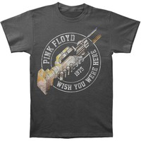 Pink Floyd Men's  Wish You Were Here '75 Slim Fit T-shirt Charcoal