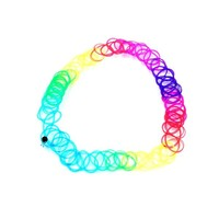 Generic Retro Stretch Magic Tattoo Choker Elastic Necklace Colorful Tattoo Gothic