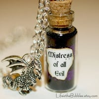 Mistress of All Evil Maleficent Magical Necklace with a Dragon Charm Disney  Villain Halloween Jewelry  Life is the Bubbles