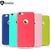 For iphone 5 5S SE 6 6S 7 Plus Case Candy  Soft TPU Silicon phone cases Coque with logo window Accessories Fundas