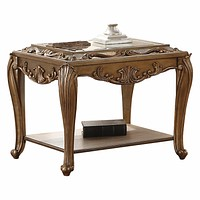 "Small End Tables - 25"" X 30"" X 27"" Mirrored And Antique Gold End Table"