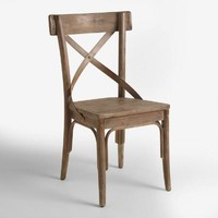Graywash French Bistro Dining Chairs Set of 2