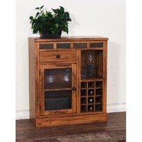 Sunny Designs Mini Bar In Rustic Oak