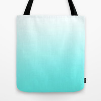 Turquoise Gradient Tote Bag by Gretchen M.