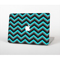"""The Turquoise-Black-Gray Chevron Pattern Skin Set for the Apple MacBook Pro 13""""   (A1278)"""