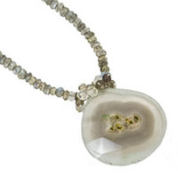 Solar Quartz and Labradorite Necklace by Kristin Ford Jewelry with Meaning | Whisperingtree.net