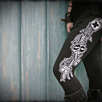 MEGATON - Leggings Fallout Post Apocalyptic Black Industrial dystopia