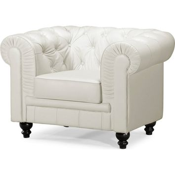Aristocrat Armchair White Leather
