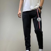 """Moncler"" Unisex Casual Letter Print Pocket Sweatpants Couple Thickened Leisure Pants Trousers"