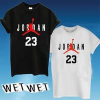 jordan 23, t-shirt Printed Black and White Color Unisex Size - WW01