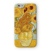 sunflowers by Van Gogh Full Wrap 3D Printed Case  for Apple iPhone 6 by Painting Masterpieces