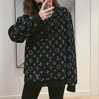 Louis Vuitton LV Women Zipper Cardigan Jacket Coat