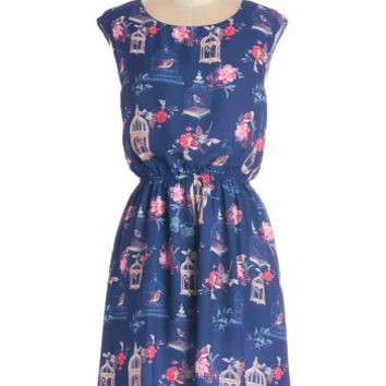 Pink Martini Critters Mid-length Sleeveless A-line Superior Decorator Dress