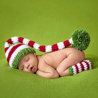 born Baby Photography Accessories Girls Boys Hat Legging Crochet Knit Costume Photography Props