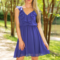 Fine And Flirty Dress, Royal Blue