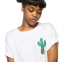 Cactus Embroidery Tee