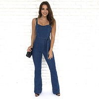 For The Love Of Denim Bell Bottom Jumpsuit