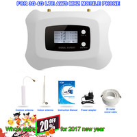 HOT Sale !Full Smart  LCD AWS 1700mhz 3G LTE 4G  Repeater Cell Phone Mobile Signal Repeater / antenna / booster