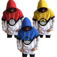 Mens Womens New Pokemon Go Team Valor Team Mystic Team Instinct Pokeball Hoodies