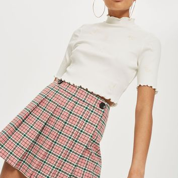 Summer Checked Mini Kilt Skirt | Topshop