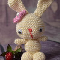 Handmade toy soft toy for children unusual toy crocheted toy gift for baby