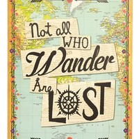 Natural Life 'Not All Who Wander Are Lost' Art Print