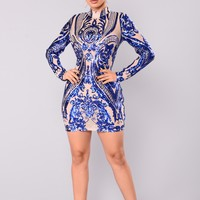 Talitha Sequin Dress - Royal
