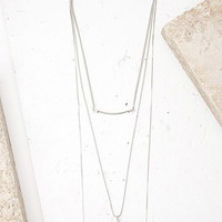 Layered Faux Crystal Necklace