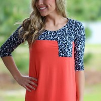 Here To Stay Top: Coral