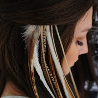 Feather Hair Extensions by FeathersAndLeather on Etsy