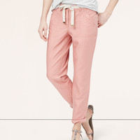 Relaxed Twill Ankle Pants   LOFT
