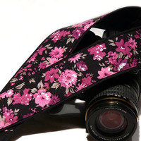 dSLR Camera Strap. Floral Camera Strap. Canon Camera Strap