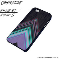 Chevron Purple Triangle Smooth Case For Iphone 5/5S Case
