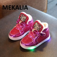 New Children Luminous Shoes Boys Girls Sport Running Shoes Flashing Lights Fashion Sneakers Little Kid LED Sneakers
