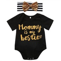 Newborn Infant Short Sleeve Romper Baby Girls Clothes
