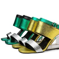 OI Women's Leather Sandals 2 Colors up to Plus Size