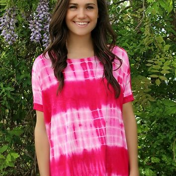Tie Dye Piko In Pink