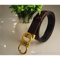 Belt Leather Belt G-A-GFPDPF Ferragamo Fashion Contracted Smooth Buckle