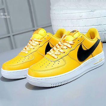 NIKE AIR FORCE 1 '07 LV8 low cut casual shoes sneakers F-A-FJGJXMY Yellow