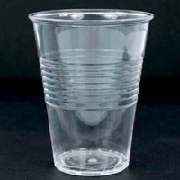 """What Is It?"" REUSABLE Clear Acrylic Cups / Glasses, 4.75 Inch, Set of 4"