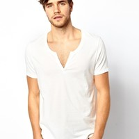 ASOS T-Shirt With Scoop Notch Neck